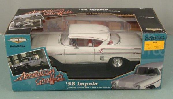 ERTL 1958 Chevy Impala 1:18 American Graffiti Car MIB