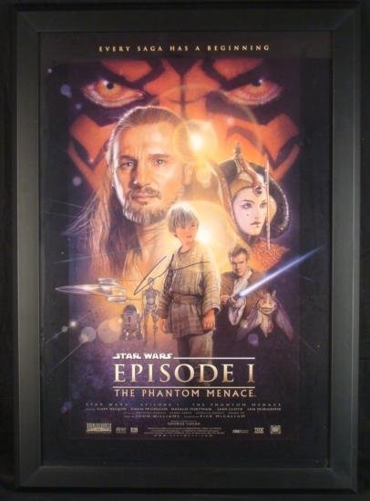 Star Wars Original George Lucas Signed Movie Poster