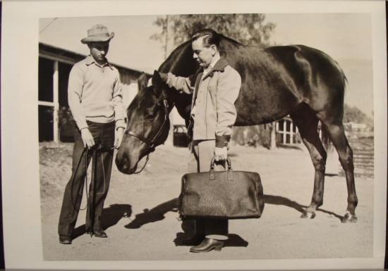 Original 1945 Press Photo Horse Racing Ban -Woodhouse
