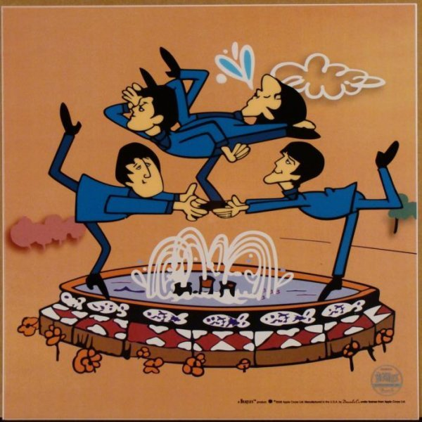 Beatles Cartoon Ltd Ed Sericel Animation Cel Fountain