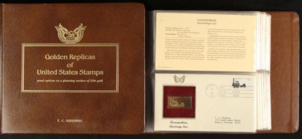 Golden Replica US Stamp Book US Covers Commem 1987-88