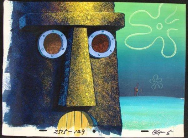 Spongebob Art Up Close Production Background Original
