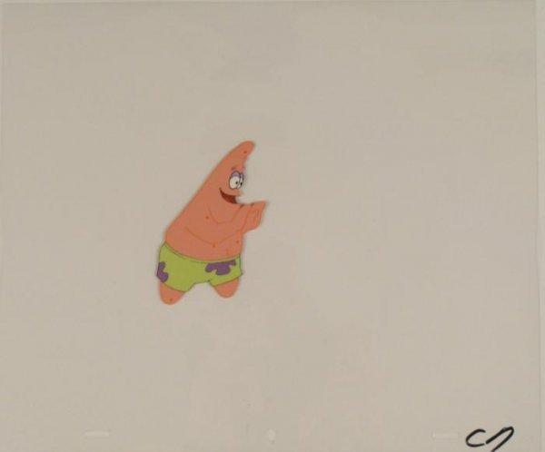 Friendly Push Animation Art Original Cel Spongebob