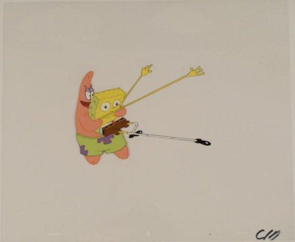 Cel Where Are You Going Original Production Spongebob