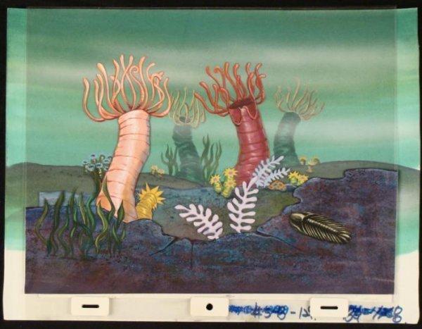 Original Cel Art and Production Background Spongebob