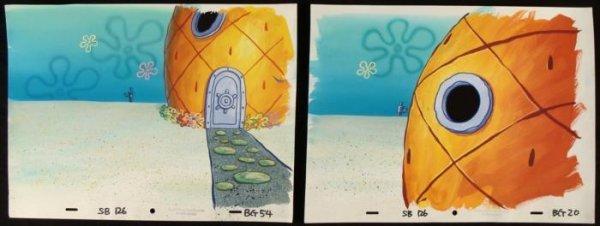 2 Pineapple Home Orig Backgrounds Animation Spongebob