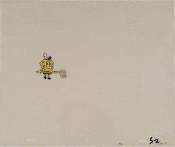 Original Not Sure Whats Next Animation Spongebob Cel