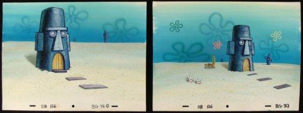 2 Animation Backgrounds Spongebob Orig Squidward Home