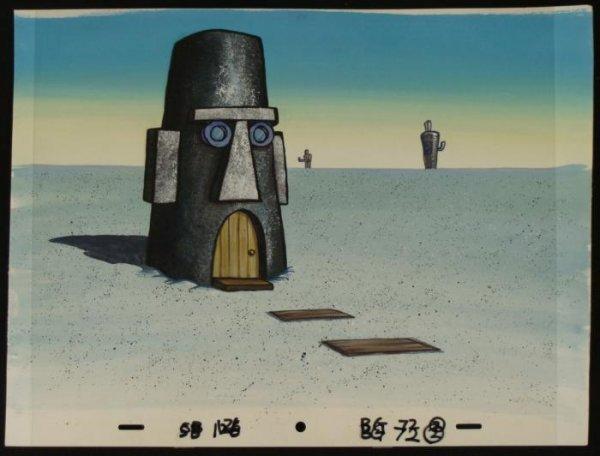 Cel Original Production Art Background Spongebob