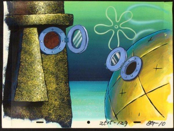 Original Spongebob Cel Background Animation Open Window