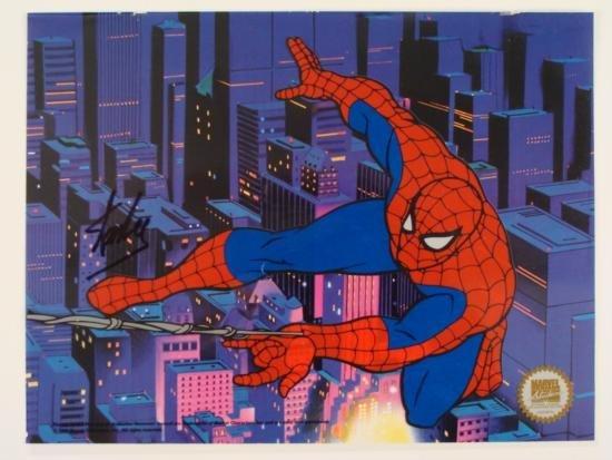 Spider-Man Deluxe Stan Lee Signed Sericel Spiderman