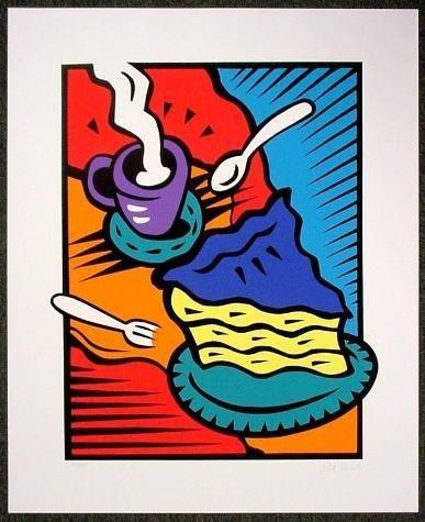 S/N Burton Morris Pop Art Print AFTERNOON DELIGHT