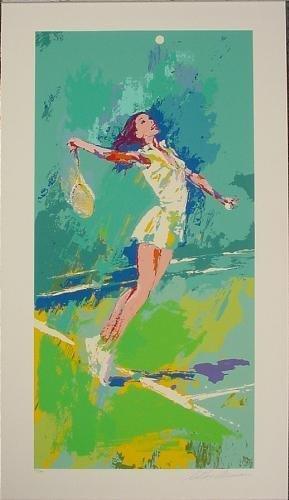 SWEET SERVE Tennis Limited Edition LeRoy Neiman Art Spe