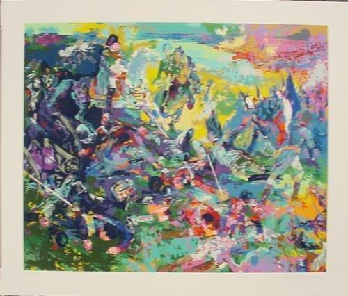 NAPOLEON AT WATERLOO Signed Numbered LeRoy Neiman Art