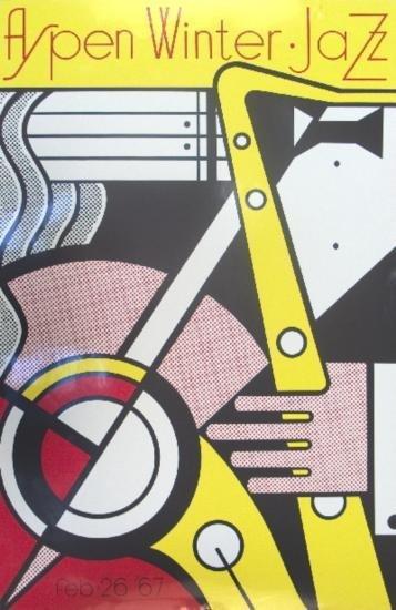 1967 Lichtenstein Aspen Jazz Serigraph