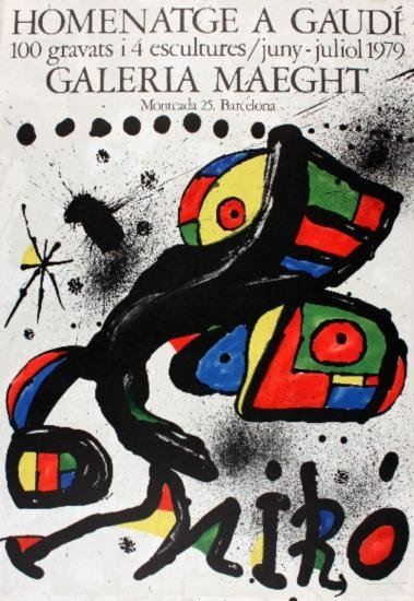1979 Miro Homentage a Gaudi Lithograph