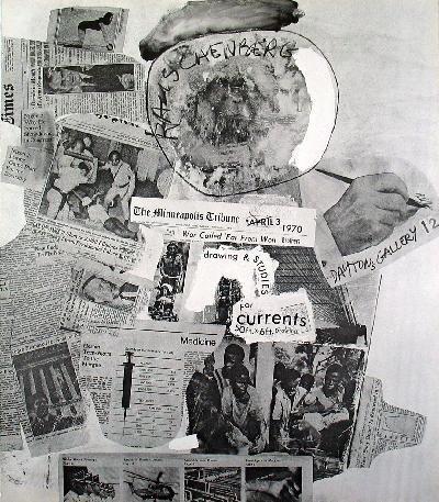 1970 Rauschenberg Currents Poster