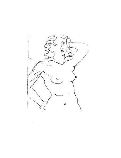 Derain Buste de Femme Mourlot Lithograph