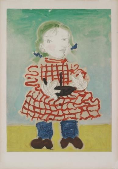 1965 Picasso Portrait of Maya Mourlot Lithograph