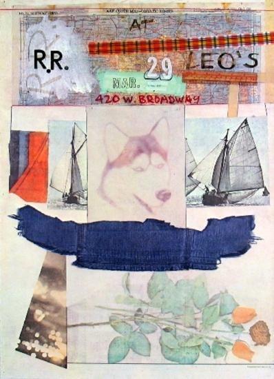 1980 Rauschenberg At Leos Offset Lithograph