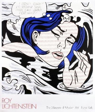 Lichtenstein Drowning Girl Serigraph