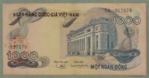 South Vietnam 1000 Dong Bank Note
