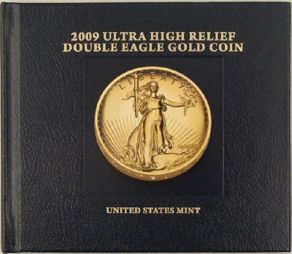 2009 UHR Double Eagle Gold Coin Book US Mint