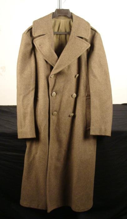 WWII Enlisted Mans Overcoat Long Wool Coat