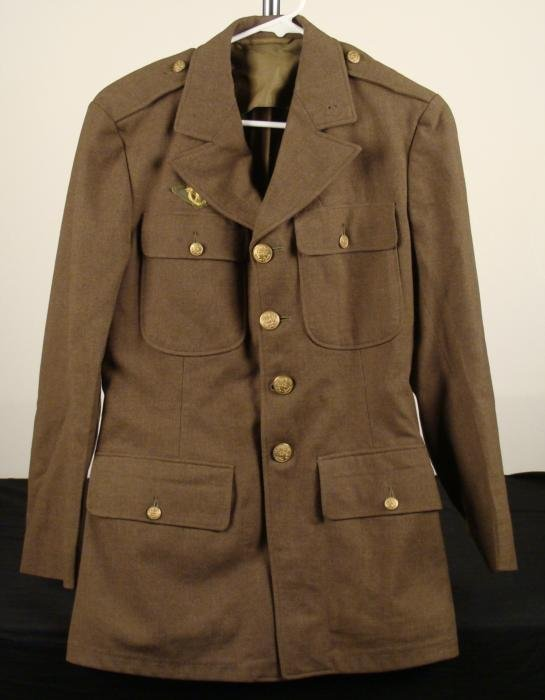 WWII Army Enlisted Mans Uniform Jacket, Discharge Patch