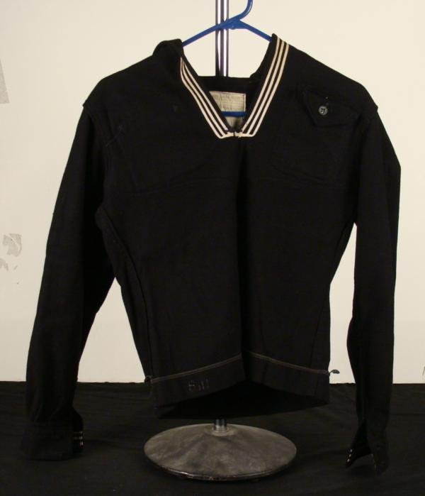 WWII US NAVY WOOL BLOUSE-SMALL SIZE