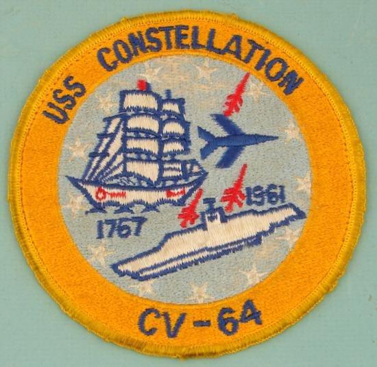 Vietnam Era USS Constellation CV-64 Theatre Made PATCH