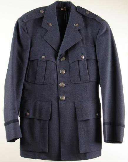 Post-WWII Blue USAF Air Force Tunic Jacket 34XS US Pins