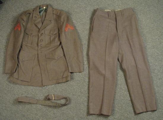 US Marines Uniform Coat Jacket Pants Korean War Sz 40 S