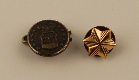 Lot 2 Post-WWII Rank Insignia Pins STAR Emblem Military