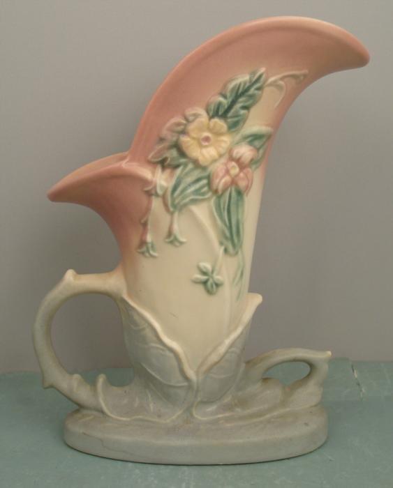 Hull Vint Wildflower Cornucopia Pottery Vase W-10 1946