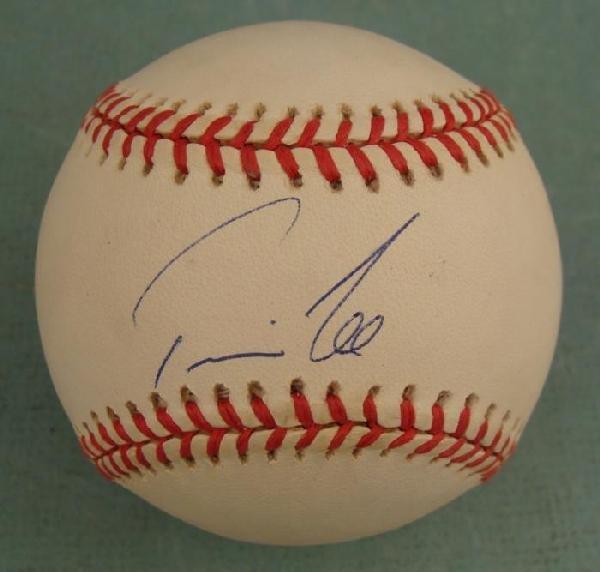 Travis Lee Signed Baseball Yankees, Phillies