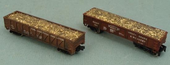 2 Bachmann Ore Mining Cars DO & W, CLP 140