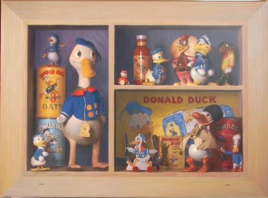 DONALD DUCK Collectors Shelf LE Canvas Disney Art Print