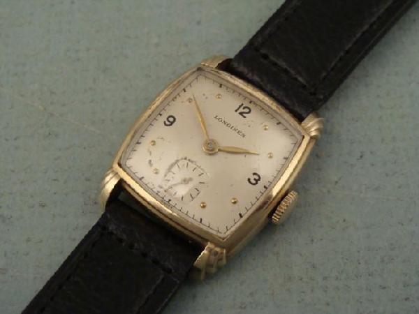 Longines Vintage Ladies Mens Barrel Shaped Watch 1940s
