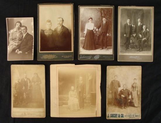 Early Twentieth Century Family Portrait Photos Variety