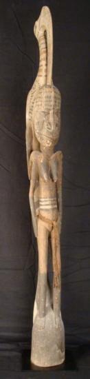 House Post New Guinea Primitive Figure Sculpture