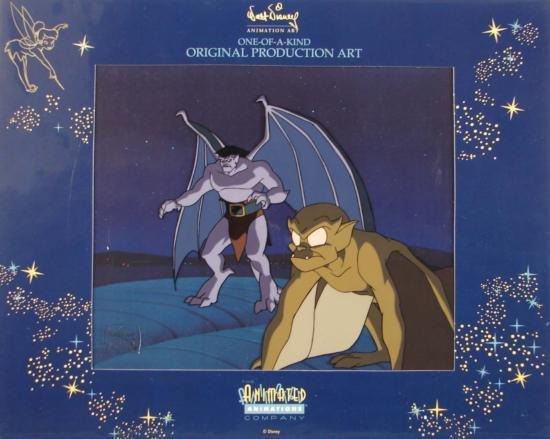 GOLIATH LEXINGTON Disney Production Art Cel GARGOYLES