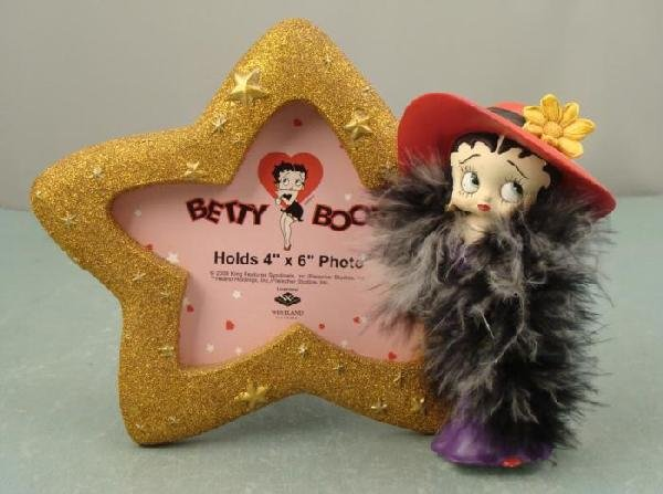 Betty Boop Figurine Star Photo Picture Frame