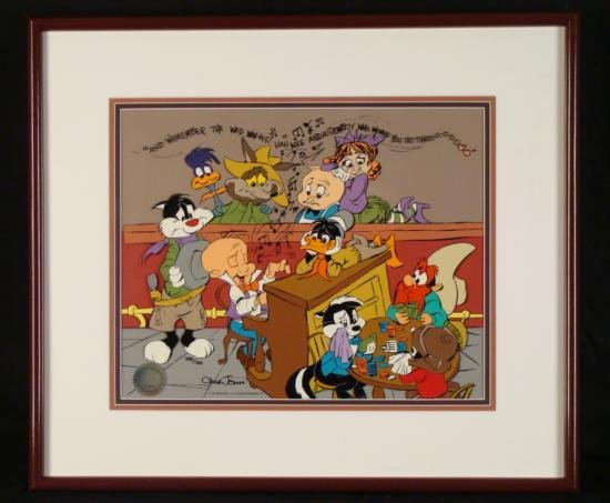 Looney Tune Chuck Jones Signed Animation Cel Elmer Fudd