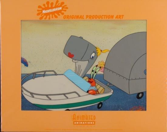 SPONGEBOB Mr Krabs Driving Original Production Art Cel