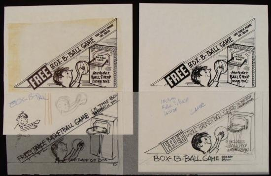 Original Product Art Drawings Ed Margolis Basketball