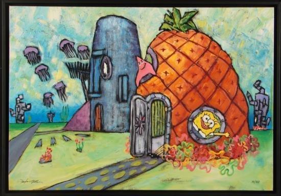 SpongeBob Art Giclee WATERLOGGED CABIN Douglas Truth