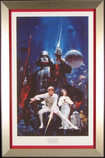 Framed Star Wars Art Canvas FORCE OF LIFE POWER DEATH
