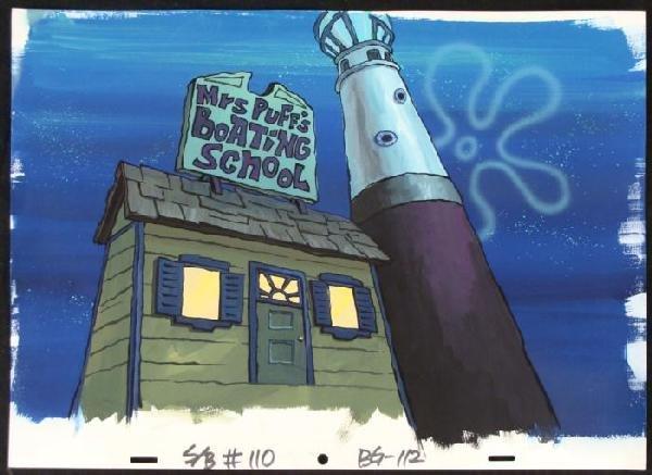 Background Spongebob Animation Boating School Original
