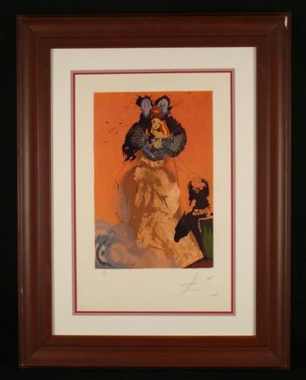 Salvador Dali Original Signed Print Sweetheart Dulcinea